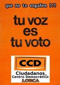 CCD CIUDADANOS CENTRO DEMOCRATICO LORCA