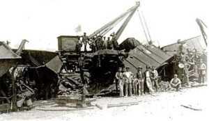 ACCIDENTE FERROVIARIO EN PULPI 1927