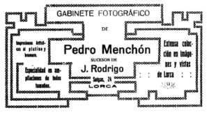ANUNCIO PEDRO MENCHON 1919
