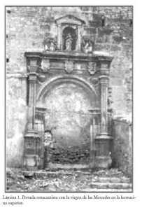 PORTADA RENANCENTISTA CON LA VIRGEN DE LAS MERCEDES 1546