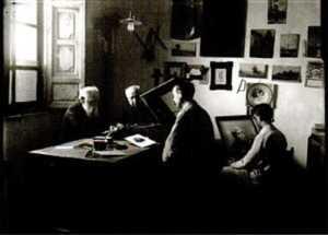 RODRIGO EN SU ESTUDIO CON MENCHON Y ALEDO 1913