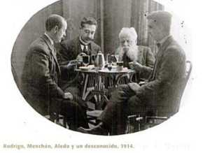 RODRIGO MENCHON ALEDO Y UN AMIGO 1914
