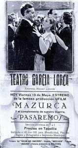 TEATRO GARCIA LORCA 1936