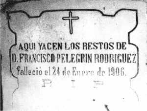 LAPIDA PANTEON SAN CLEMENTE