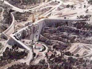 PANTANO DE PUENTES EN CONSTRUCCION 1993