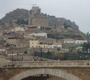 Vista de Lorca tras la inundación más reciente en 2012