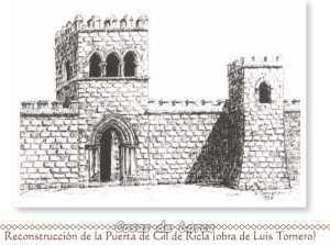 Reconstrucción de la Puerta de Gil de Ricla, dibujo de Luis tornero