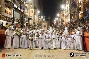 INICIO PROCESION VIERNES SANTO PASO BLANCO