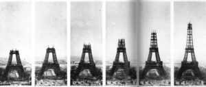 Fases construcción Torre Eiffel