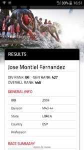 CLASIFICACION DEL ATLETA JOSE MONTIEL EN EL IRON MAN DE FRANKFURT 2016