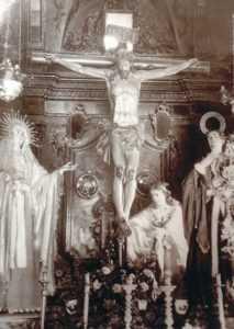 Cristo de la Misericordia (Destruido). Formaba parte de un 'Calvario' junto a obras documentadas de Salzillo.