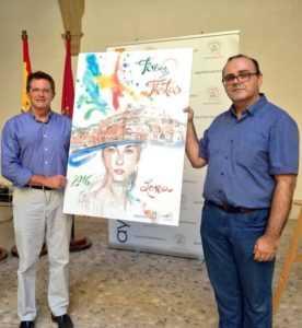 Francisco Jódar con Salvador Caro, pintor lorquino autor del cartel
