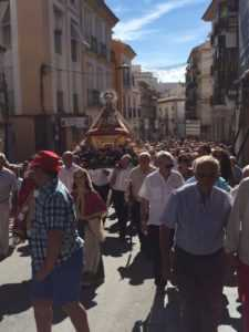Lorca acompaña multitudinariamente a la Patrona