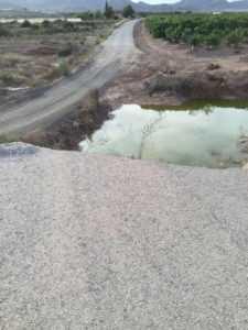 Camino de La Camocha, Almendricos. Desde las inundaciones. Tres años sin arreglo