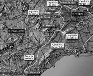 Planta general de trazado del Canal Principal de la Margen Derecha del Postrasvase Tajo-Segura
