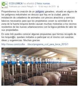 CCD LORCA PROPUESTA CREACION POLIGONO GANADERO EN SERRATA