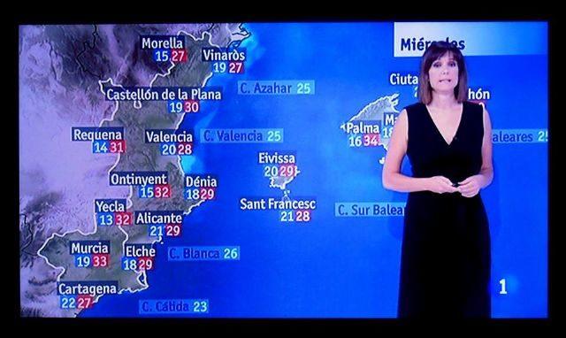 Mapa del pronóstico meteorológico de TVE