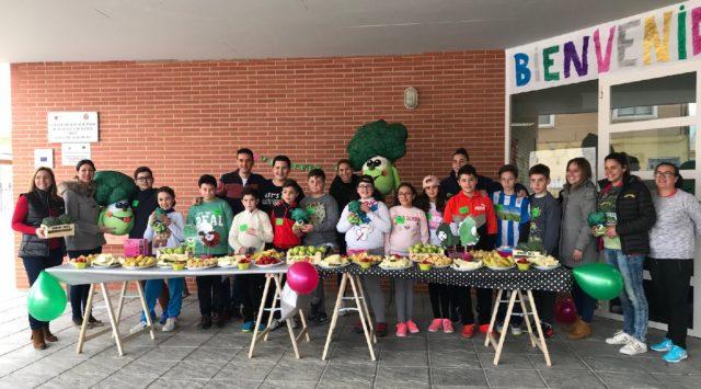 Más de 6.000 alumnos han participado en la campaña de alimentación saludable y lucha contra la obesidad y el sedentarismo promovida por productores de brócoli y la Concejalía de Sanidad
