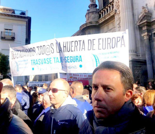 El Alcalde ratifica su apoyo inquebrantable a los regantes lorquinos, anuncia que estará en Madrid el próximo día 7 y reivindica un gran acuerdo nacional sobre agua