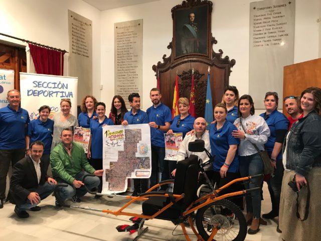 La Plaza de España de Lorca acogerá el sábado 21 de abril el I Campeonato de España de Joëlette, organizado por APAT Lorca